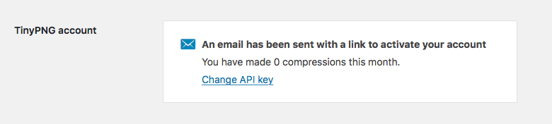Compress JPEG & PNG images アカウント登録メール